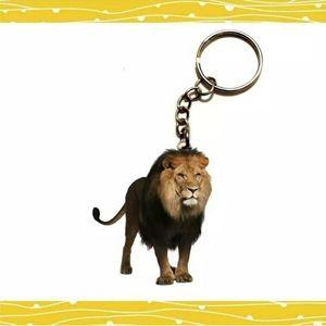 New Double Sided Acrylic Lion Keychain.